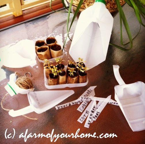 199. Refoloseste cutia de lapte din plastic