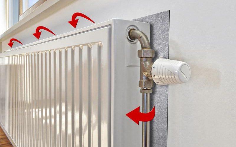 36. Pune folie de aluminiu in spatele caloriferului